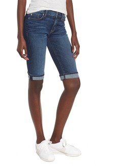 Hudson Jeans Amelia Rolled Knee Shorts (Unfamed)