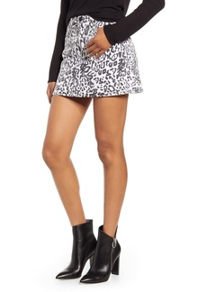 Hudson Jeans Animal Print Skirt (Washed Leopard)