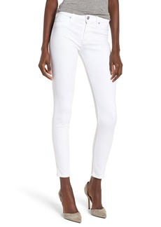 Hudson Jeans Ankle Super Skinny Jeans (Optical White)