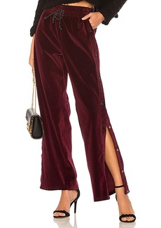 Hudson Jeans Aria Track Pant in Wine. - size S (also in L,M,XS)