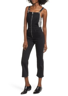 Hudson Jeans Avalon Zip Front Crop Overalls (Swoon)