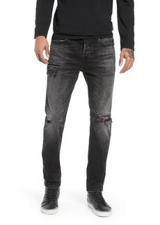 Hudson Jeans Axl Ripped Skinny Fit Jeans (Locust)