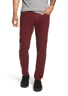 Hudson Jeans Axl Skinny Fit Twill Jeans (Oxblood)