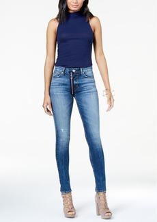 Hudson Jeans Barabra Exposed-Zipper Skinny Jeans