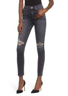 Hudson Jeans Barbara Distressed High Waist Ankle Skinny Jeans (Worn Kona)