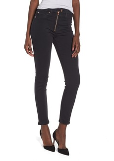 Hudson Jeans Barbara Exposed Zip High Waist Ankle Skinny Jeans (Maniac)