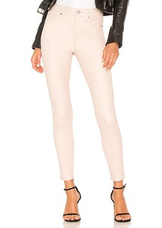 Hudson Jeans Barbara High Rise Leather Ankle Super Skinny