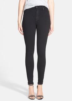 Hudson Jeans Barbara High Waist Skinny Jeans (Black)