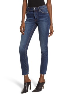 Hudson Jeans Barbara High Waist Ankle Skinny Jeans (Clean Side Bar)
