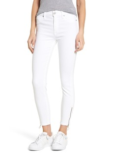 Hudson Jeans Barbara High Waist Ankle Skinny Jeans (Optical White)