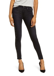 Hudson Jeans Barbara High Waist Ankle Super Skinny Jeans (Studded Incline)