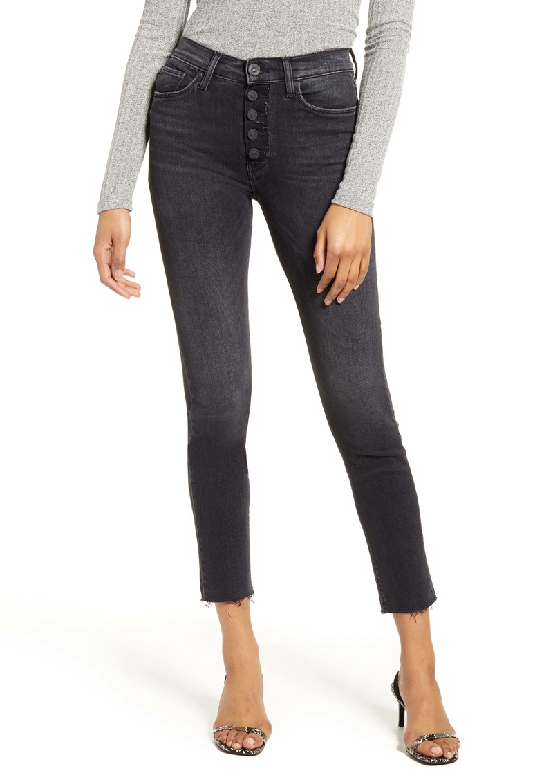 Hudson Jeans Barbara High Waist Button Fly Ankle Skinny Jeans (Tease)