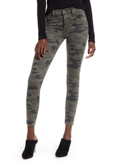 Hudson Jeans Barbara High Waist Camo Raw Hem Ankle Skinny Jeans (Kirkwood)