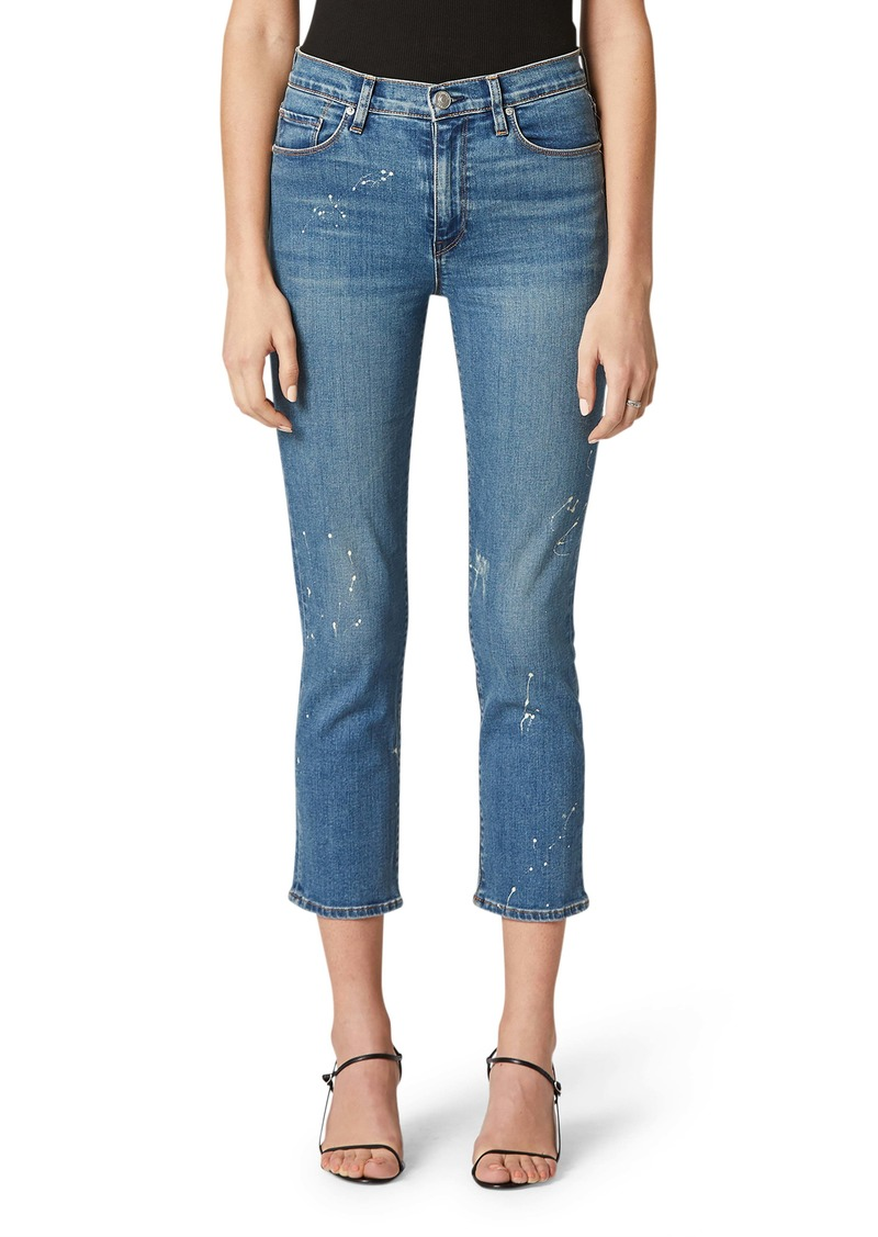 Hudson Jeans Barbara High Waist Crop Straight Leg Jeans (Destructed Surpass)