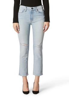 Hudson Jeans Barbara High Waist Crop Straight Leg Jeans (Destructed Surpass)