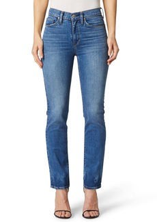Hudson Jeans Barbara High Waist Crop Straight Leg Jeans (True Colors)