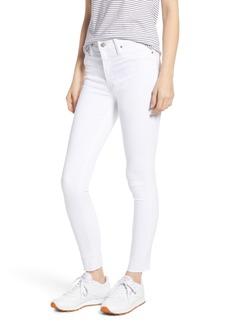 Hudson Jeans Barbara High Waist Raw Hem Ankle Skinny Jeans