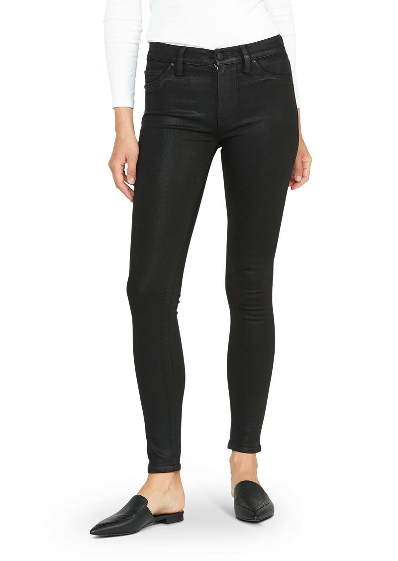 Hudson Jeans Barbara High Waist Skinny Jeans (Coated Black)
