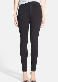 Hudson Jeans Barbara High Waist Coated Skinny Jeans
