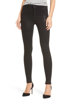 Hudson Jeans Barbara High Waist Skinny Jeans (Noir Coated)