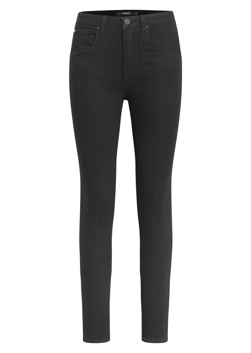 Hudson Jeans Barbara High Waist Super Skinny Jeans (The Night)