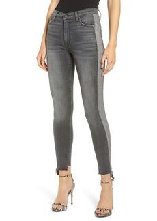 Hudson Jeans Barbara High Waist Tuxedo Stripe Ankle Skinny Jeans (Stark)
