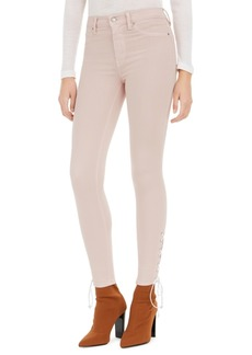 Hudson Jeans Barbara Lace-Up Super-Skinny Jeans