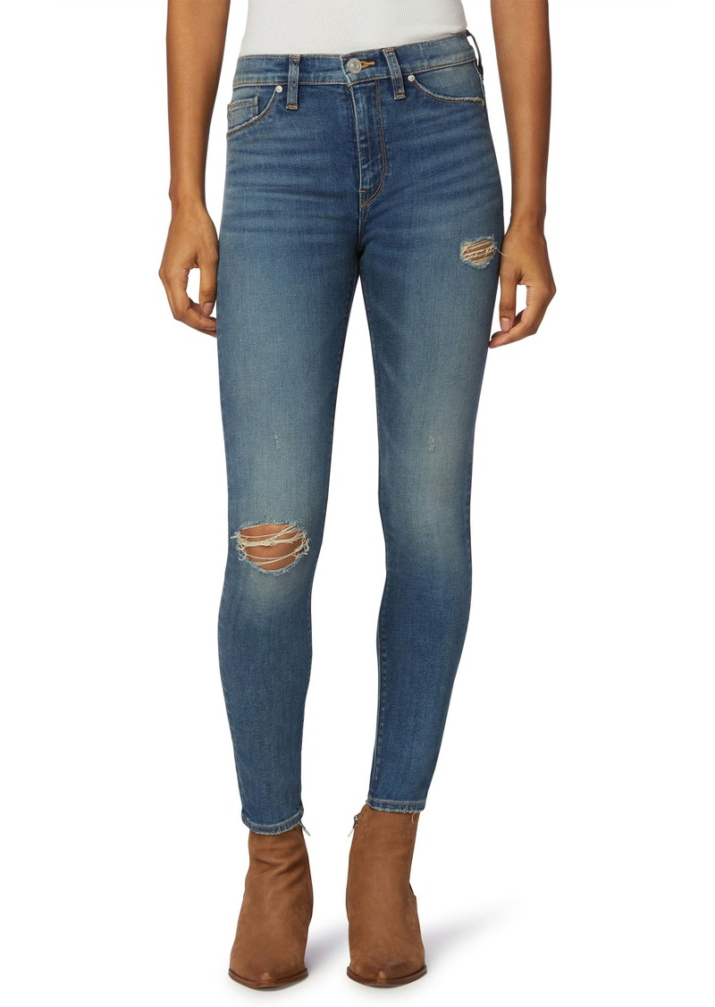 Hudson Jeans Barbara Ripped High Waist Ankle Skinny Jeans