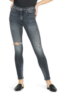 Hudson Jeans Barbara Ripped High Waist Super Skinny Jeans (Out of Sight)