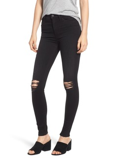 Hudson Jeans Barbara Ripped High Waist Super Skinny Jeans (Westbound)