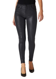 Hudson Jeans Barbara Sparkle High Waist Skinny Jeans (Apollo)
