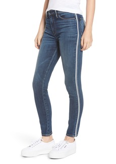 Hudson Jeans Barbara Stripe High Waist Ankle Skinny Jeans (Hypnotic)
