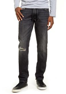 Hudson Jeans Blake Distressed Slim Fit Straight Leg Jeans (Varsity)
