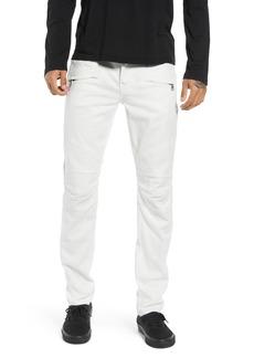 Hudson Jeans Blinder Biker Skinny Fit Jeans (Dirty White)