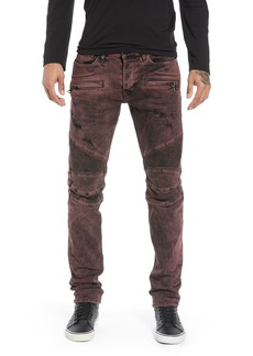 Hudson Jeans Blinder Biker Skinny Fit Jeans (Faded Oxblood)