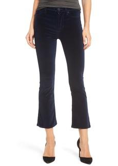 Hudson Jeans Brix Velvet High Waist Crop Bootcut Pants