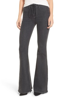 Hudson Jeans Bullocks High Waist Lace-Up Flare Jeans (Disarm)