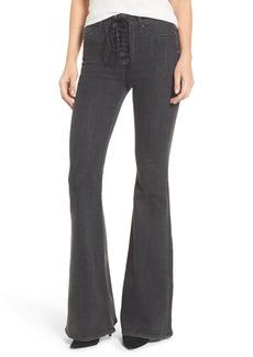 Hudson Jeans Bullocks High Waist Lace-Up Flare Jeans (Disarm)
