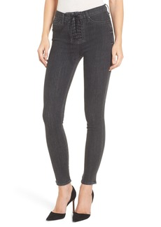 Hudson Jeans Bullocks High Waist Lace-Up Skinny Jeans (Disarm)