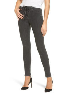 Hudson Jeans Bullocks High Waist Lace-Up Skinny Jeans (Vacancy)