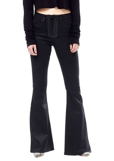 Hudson Jeans Bullocks Lace-Up Flare Jeans