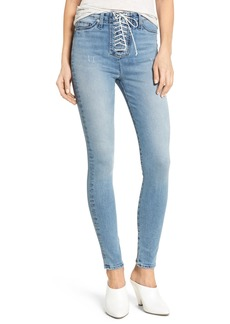 Hudson Jeans Bullocks Lace-Up High Waist Super Skinny Jeans