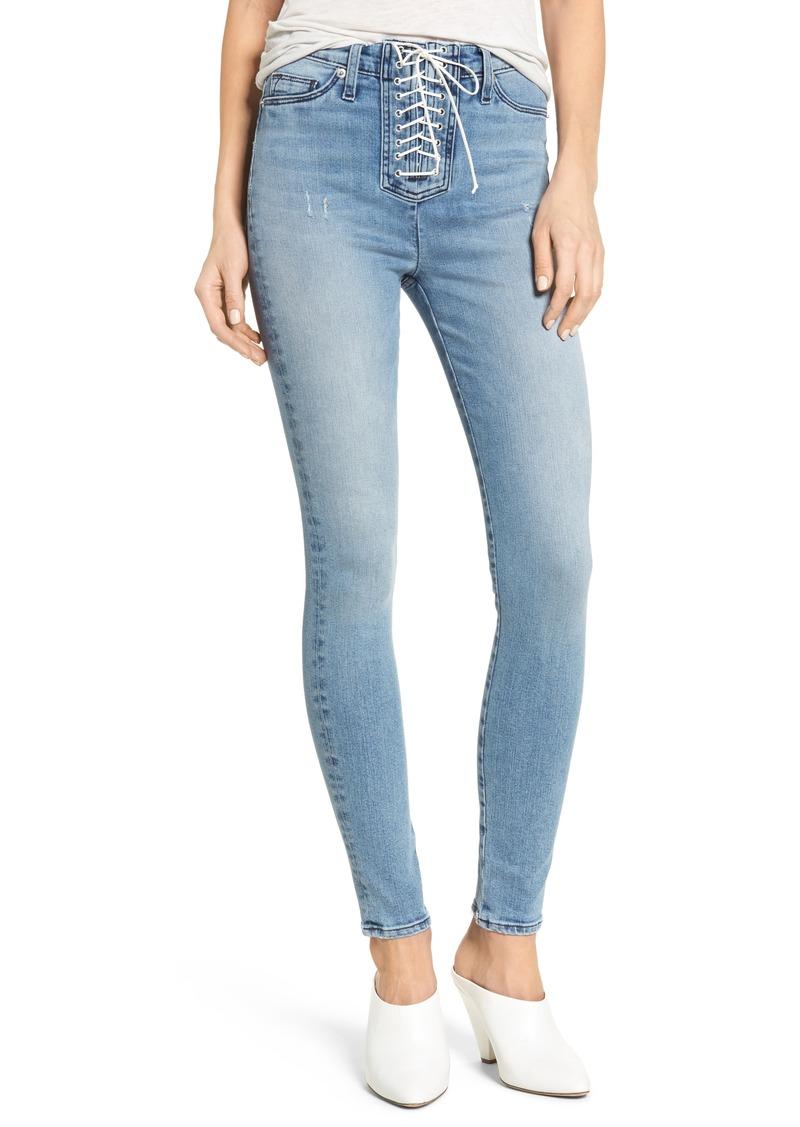 eb38ad163e9 Hudson Jeans Hudson Jeans Bullocks Lace-Up High Waist Super Skinny ...