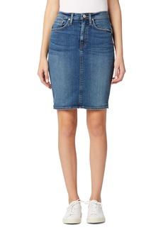 Hudson Jeans Centerfold Extended High Waist Denim Skirt