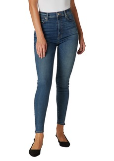 Hudson Jeans Centerfold Extended High Waist Zip Cuff Super Skinny Jeans (Mohawk)