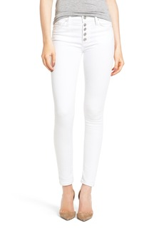 Hudson Jeans Ciara High Rise Ankle Jeans (White)
