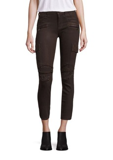 Hudson Jeans Colby Distressed Moto Skinny Cargo Jeans