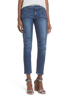Hudson Jeans 'Colby' Patch Skinny Jeans (Vendetta)