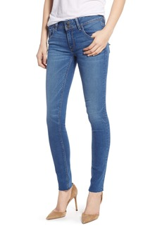 Hudson Jeans Collin Mid Rise Raw Hem Ankle Skinny Jeans (Vision)