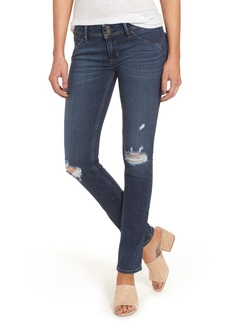 Hudson Jeans Collin Supermodel Ripped Skinny Jeans (Taken) (Long)